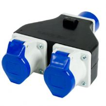 2 Way 16Amp Splitter